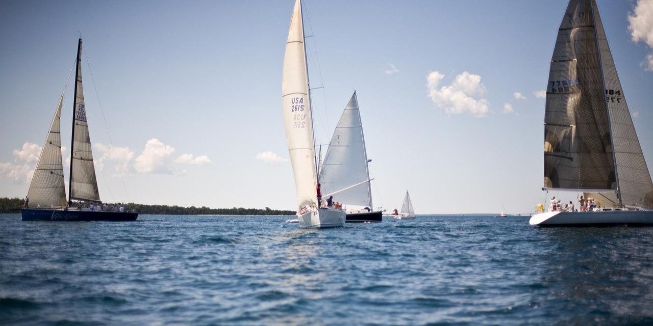 Yachts during the bucket regatta
